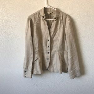 Coldwater creek linen jacket